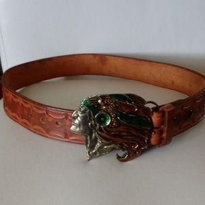 Accessories - Vintage Indian Head Thunder Bird Belt